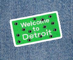 Detroit Bullet Holes Patch 9cm