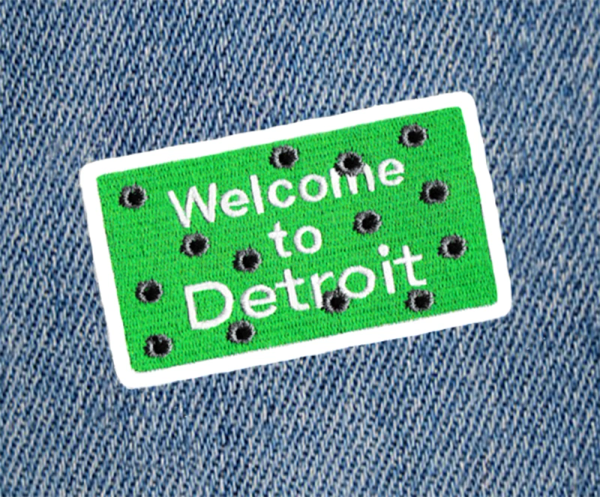 Detroit Bullet Holes Patch 9cm
