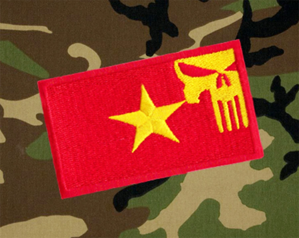 Cool Vietnam Flag Military Custom Skull Patch Applique 7cm