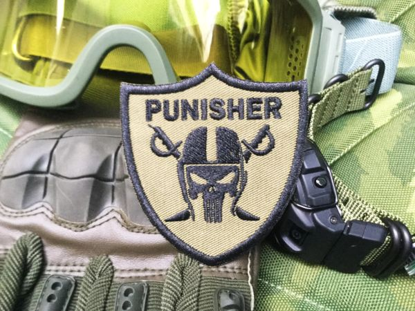 Cool Tactical Military Police Custom Skull Morale Patch Applique 7.5cm