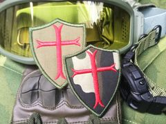 Cool Knights Templar Tactical Morale Patch Applique 7.5cm
