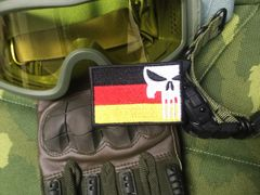Cool German Flag Military Custom Skull Patch Applique 7cm Germany
