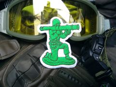 Cool Tactical Military Bazooka Green Army Man Morale Patch Applique 8cm