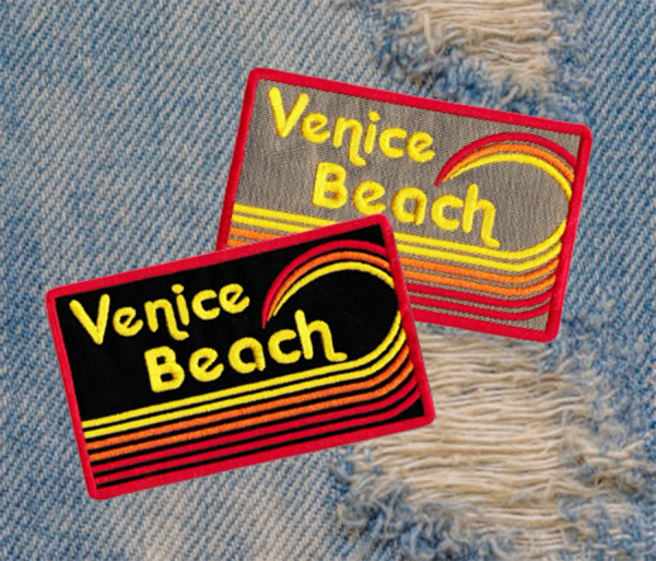 Vintage Style 70's 80's Venice Beach Surfer Patch 9.5cm Applique