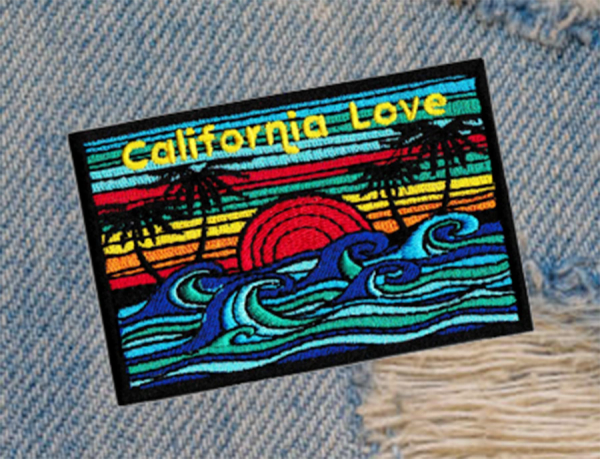 Vintage Style 70's 80's California Surfer Patch 9cm Applique