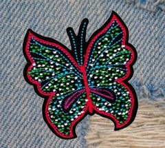 Beautiful Large Butterfly Patch 10cm x 8cm Applique