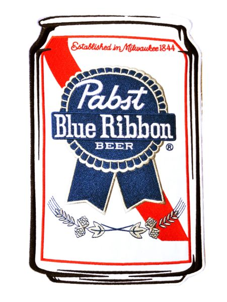 XXL Vintage Style 70's 80's Pabst PBR Patch 30cm / 12 inches