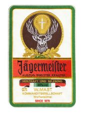 XXL Vintage Style 70's 80's Jagermeister Patch 30cm / 12 inches Back Patch