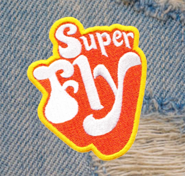 Vintage 70's Style Super Fly Disco Patch 8cm