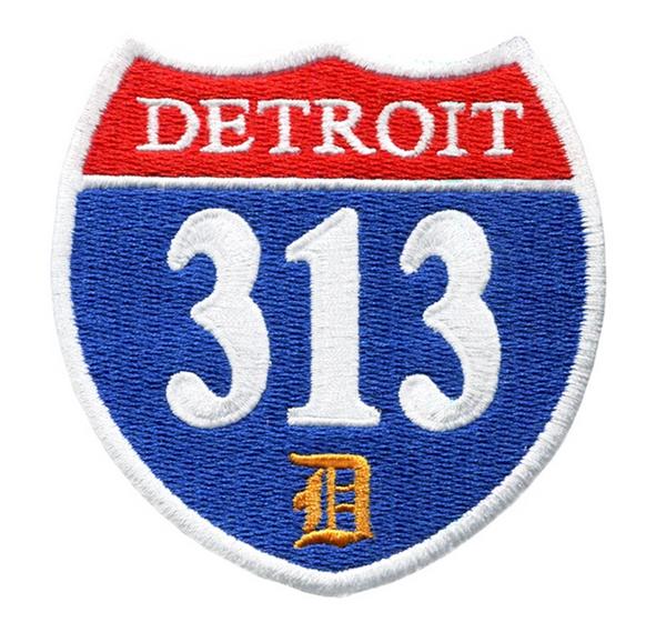 "Vintage/Urban Style ""Detroit 313"" Interstate Road Sign Patch 7.5cm"