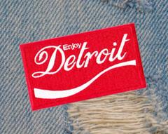 Vintage 70's Style Detroit Patch 8cm / 3.2 inches