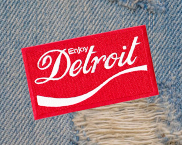 Vintage 70's Style Detroit Patch 8cm / 3.2 inches