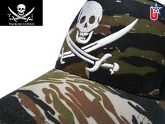 Tactical Infidel Jolly Roger Pirate Tiger Camo Trucker Hat