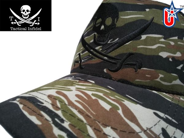Tactical Infidel Jolly Roger Pirate Tiger Camo Trucker Hat