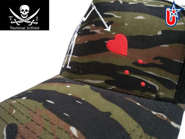 Tactical Infidel Blackbeard Pirate Tiger Camo Trucker Hat
