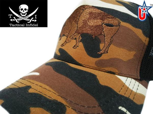 Tactical Infidel Bison Desert Camo Trucker Hat