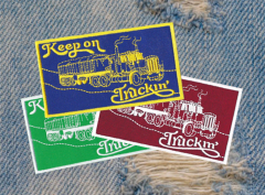 Vintage 70's Style Keep On Truckin Patch 12cm / 4.7 inches