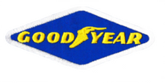 Vintage 70's Style Goodyear Patch 7.5cm / 3 inches