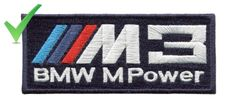 BMW M3 Patch Badge M Power Navy Blue or Black 9.5cm