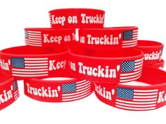 Keep on Truckin' PVC Silicon Rubber Motivational Morale Wristband Braclet