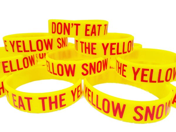 Don't Eat The Yellow Snow PVC Silicon Rubber Motivational Morale Wristband Braclet