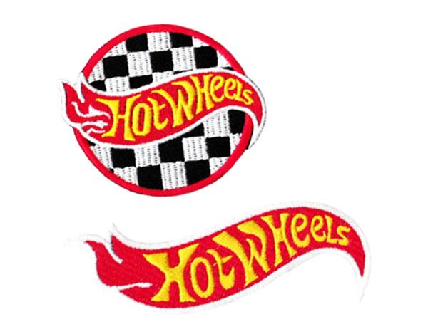 Vintage Hot Wheels Patch (Round 7.5cm, Flame 10cm)