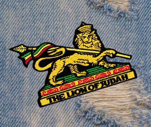 Lion of Judah Rasta Patch 9cm / 3.5 inch