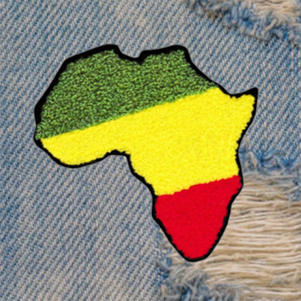 XL Extra Large Chenille Rasta Africa Patch 12cm / 4.7 inch