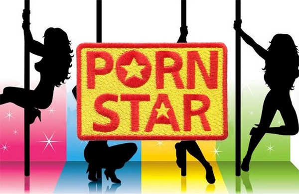 Cute Porn Star Girl USA Silhouette Patch 9cm Applique 3.5 inch