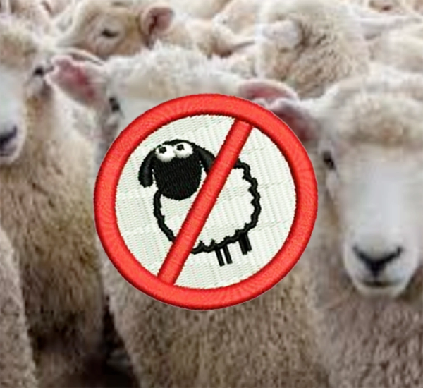 No Sheep Shirt Patch 7cm / 2.8 inch