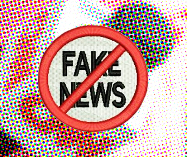 No Fake News Shirt Patch 7cm / 2.8 inch