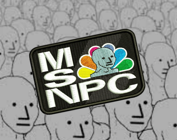 MSNPC NPC Fake News Shirt Patch 8cm / 3.2 inch
