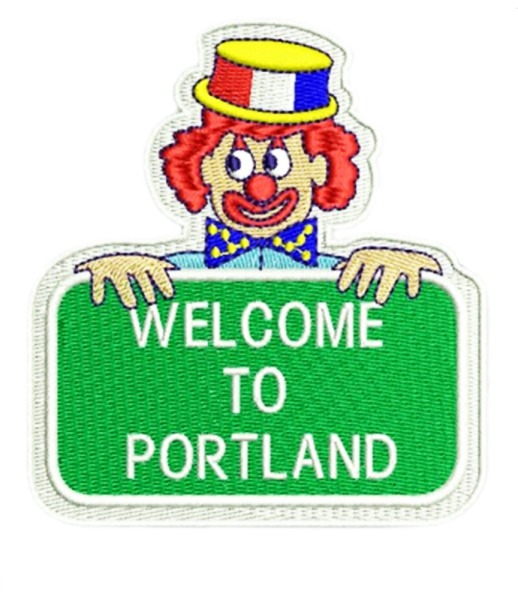 Welcome to Portland Shirt Patch 8cm / 3.2 inch