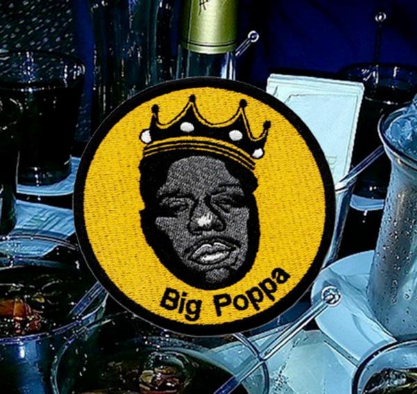 Biggie Smalls Big Poppa Patch Hip Hop 9cm / 3.5 inch