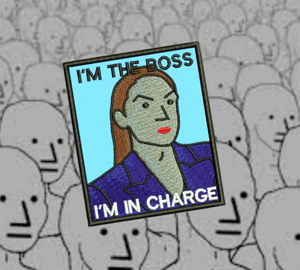 I'm the Boss NPC Shirt Patch 9cm / 3.5 inch