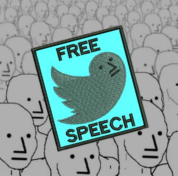 Free Speech NPC Shirt Patch 9cm / 3.5 inch