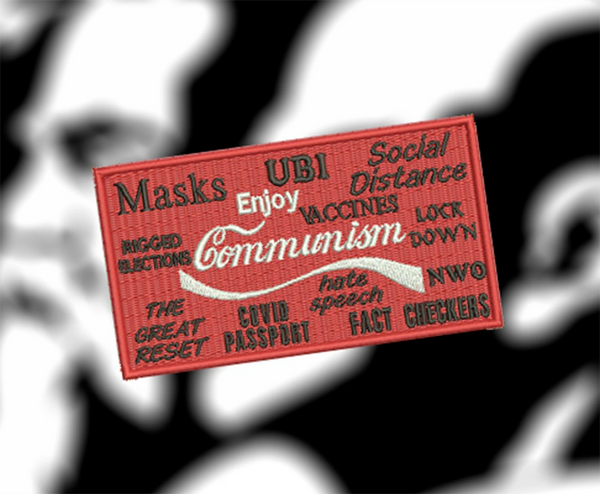 Large Funny Parody Enjoy Communism Morale Patch 13cm / 5.1 inch