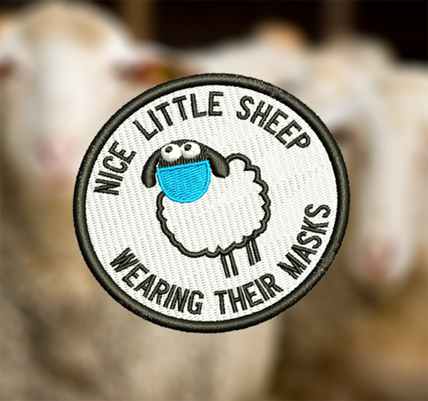 Cute Sheep Mask Parody Morale Patch 7.5cm / 3 inch