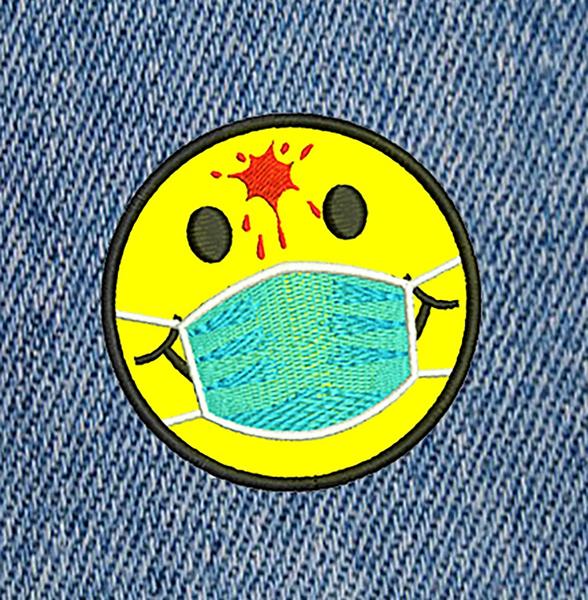 Cute Medical Doctor Nurse Morale Coronavirus Covid-19 Smile Face Headshot Shirt Patch 7.5cm / 3 inch