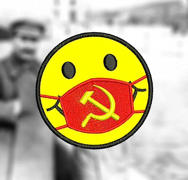 Cute Medical Doctor Nurse Morale Coronavirus Covid-19 Communism Smile Face Headshot Shirt Patch 7.5cm / 3 inch