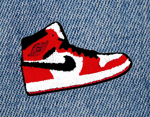 XXL Extra Large Colorful Basketball Chenille Shoe Patch 16cm Applique