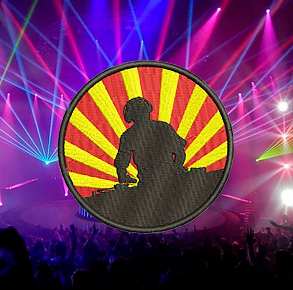 Music Rave Club DJ Patch 7.5cm / 3 inch Applique