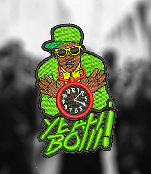 Cool East Coast West Coast LA New York Compton Hip Hop DJ Patch Hip Hop 8cm / 3.2 inch