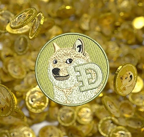 Cute Dogecoin Doge Dog Patch Hip Hop 7.5cm / 3 inch