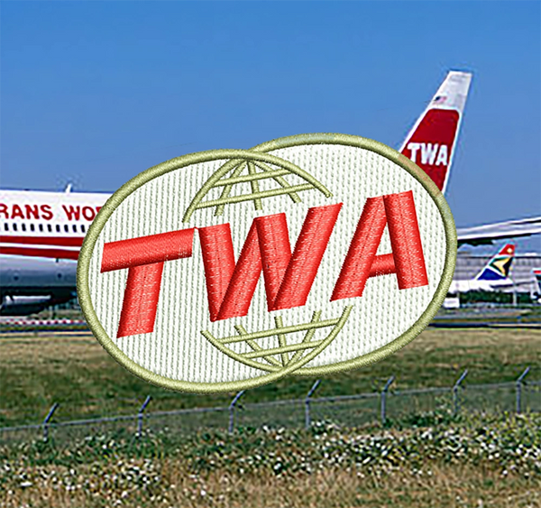 Cute 70's 80's TWA Airlines Patch 7.5cm / 3 inch