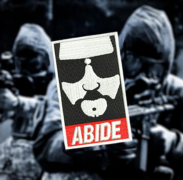 Cool Abide Movie Morale Patch Hip Hop 8cm / 3.2 inch