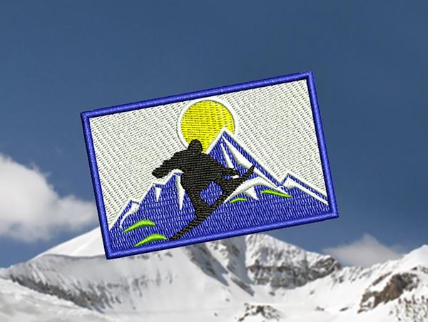 Snowboarding Patch 8cm x 5cm