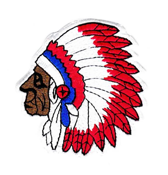 Indian Skull Head Chief Patch 7.5cm Applique