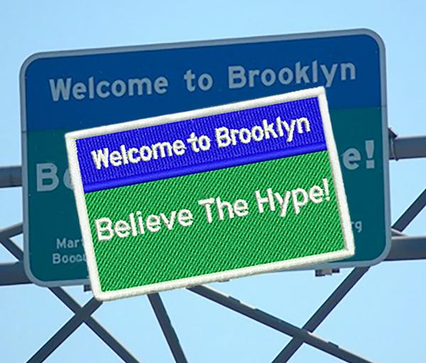 Cool East Coast West Coast New York Brooklyn Hip Hop Headphones DJ Patch Hip Hop 10cm / 4 inch