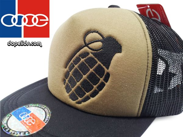 """smARTpatches """"Grenade"""" Vintage Style Trucker Hat"""